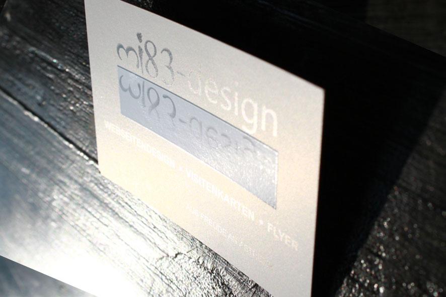 Visitenkarte von mi83-design